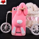 Moschino Rabbit silicone case iphone 5/5s Pink