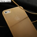 New case Deluxe 0,3mm Ultra Thin Titanium Perforation for iPhone 5/5S Gold