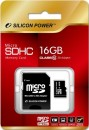 Silicon Power MicroSDHC 16GB + SD adapter (class 10)