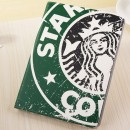 Starbucks Leather Slim Case for iPad Air with Stand Sleep & Wake Green