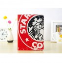 Starbucks Leather Slim Case for iPad Air with Stand Sleep & Wake Red