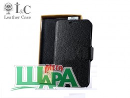 Фото 1 - I&C Luxury Leather Book Case HTC Desire 400 Dual Sim (One SU/T528w) Black