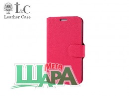 Фото 1 - I&C Luxury Leather Book Case HTC Desire 400 Dual Sim (One SU/T528w) Pink