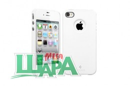 Фото 1 - SGP Case Ultra Thin Air Pastel Series Infinity White for iPhone 4/4S (SGP08384)