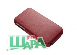 Фото 1 - SGP Leather Case Argos Red for iPhone 4/4S (sgp06831)