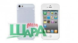 Фото 1 - Nuoku JOY Series Dual-tone Soft-touch Cover for iPhone 5 white