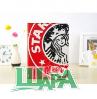 Фото 1 - Starbucks Leather Slim Case for iPad Air with Stand Sleep & Wake Red