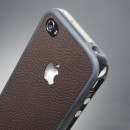 Фото 2 - SGP Skin Guard Leather Brown Set Package for iPhone 4/4S