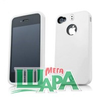 Фото 1 - Capdase Polimor Protective Case Polishe White/White for iPhone 4 (PMIH4-5122)