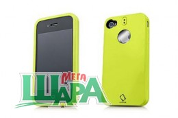 Фото 1 - Capdase Polimor Protective Case Polishe Green/Green for iPhone 4 (PMIH4-5166)