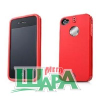 Фото 1 - Capdase Polimor Protective Case Polishe Red/Redfor iPhone 4 (PMIH4-5199)