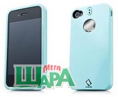 Фото 1 - Capdase Polimor Protective Case Polishe Blue/Blue for iPhone 4 (PMIH4-51CC)