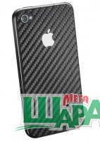 Фото 1 - SGP Skin Guard Carbon Set Package for iPhone 4/4S Black
