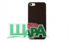 Фото 1 - Nuoku FRESH Series Soft-touch Color Cover for iPhone 5 Black