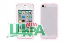 Фото 1 - Nuoku JOY Series Dual-tone Soft-touch Cover for iPhone 5 pink