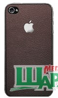 Фото 1 - SGP Skin Guard Leather Brown Set Package for iPhone 4/4S